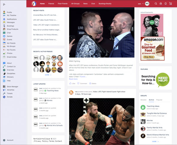 MartialArtsclique.com a social media platform for sharing Martial Arts information, techniques, training information, building connections, friendships and international communities around the world! Free and easy to use to keep up with these friends, the latest happening and information from around the world. Connect with friends and Grow your Clique!